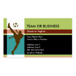 soccer elegance business card template