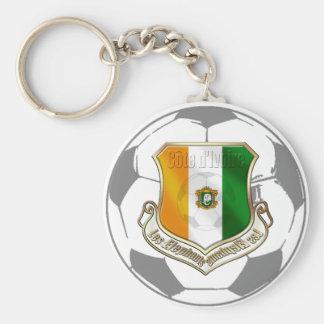 Soccer emblem ivory coast soccer ball gifts basic round button keychain