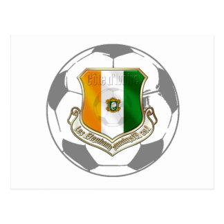 Soccer emblem ivory coast soccer ball gifts postcard
