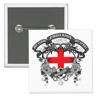 Soccer England 2 Inch Square Button