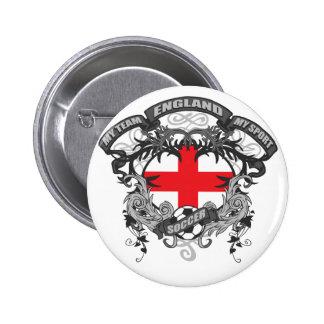 Soccer England 2 Inch Round Button