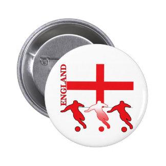 Soccer England Round Button