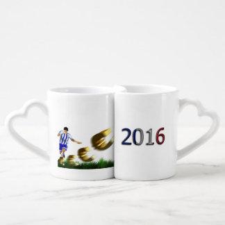Soccer European Championship Euro 2016 Group A Coffee Mug Set