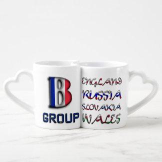Soccer European Championship Euro 2016 Group B Couples Coffee Mug