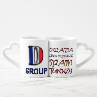 Soccer European Championship Euro 2016 Group D Couples Coffee Mug
