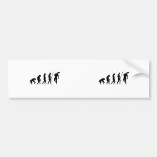 soccer evolution car bumper sticker