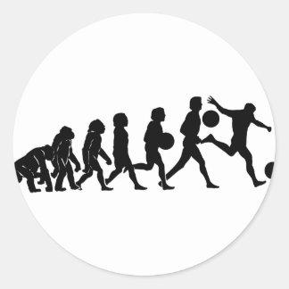 Soccer evolution classic round sticker