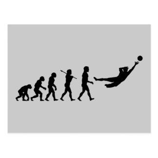 Soccer Evolution Fun Sports Postcard