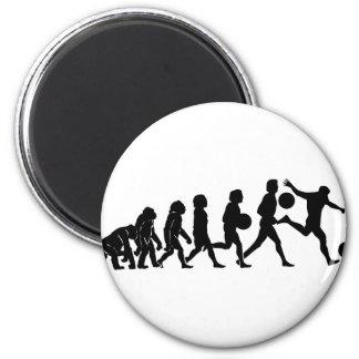 Soccer evolution refrigerator magnet