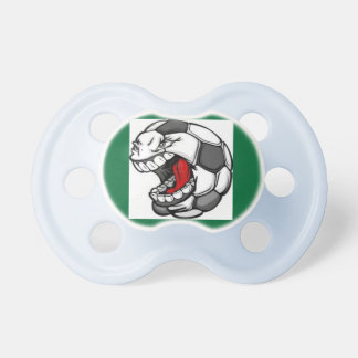 soccer face baby pacifier