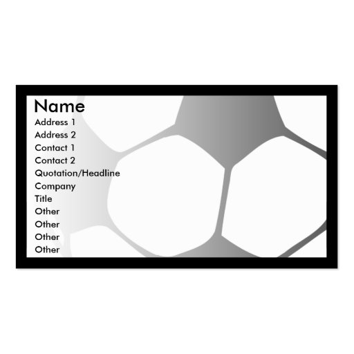 soccer fade business cards