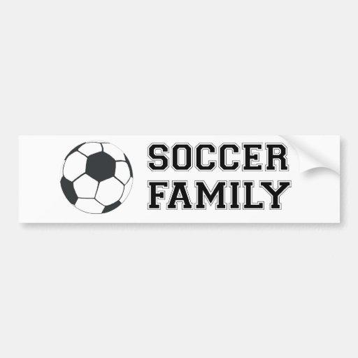 Soccer Family Car Bumper Sticker