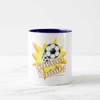 Soccer Family Two-Tone Coffee Mug