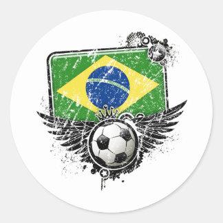 Soccer fan Brazil Sticker