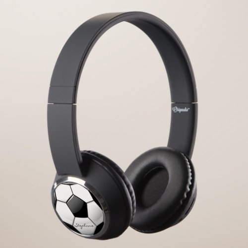 Soccer Fan Custom Name Headphones