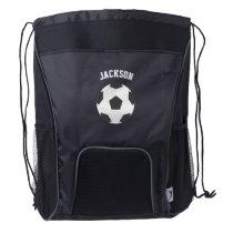 Soccer Fan Drawstring Backpack