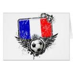 Soccer fan France Card