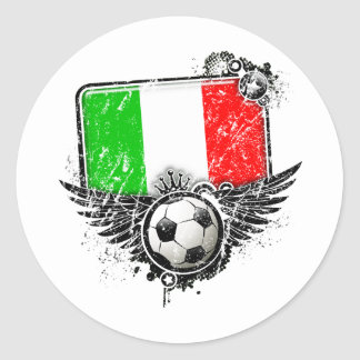 Soccer fan Italy Round Sticker