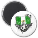 Soccer fan Nigeria 2 Inch Round Magnet