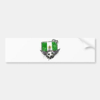 Soccer fan Nigeria Bumper Sticker