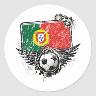 Soccer fan Portugal Round Sticker