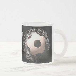 Soccer Fan Soccer Ball Pattern Frosted Mug
