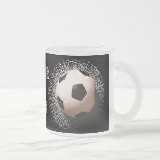 Soccer Fan Soccer Ball Pattern Frosted Mug