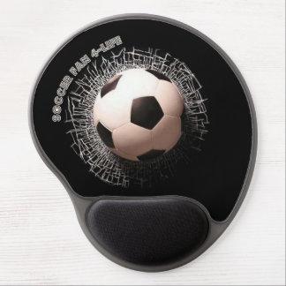 Soccer Fan Soccer Ball Pattern Gel Mouse Pad