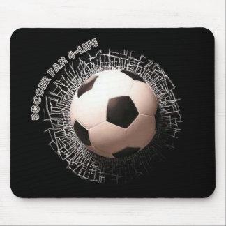 Soccer Fan Soccer Ball Pattern Mouse Pad