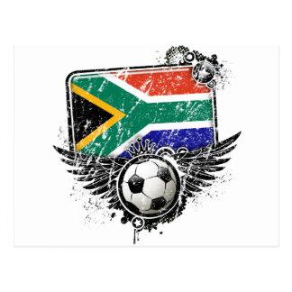 Soccer fan South Africa Postcard