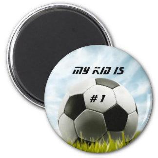 Soccer fans 2 inch round magnet
