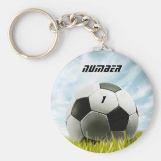 Soccer fans basic round button keychain