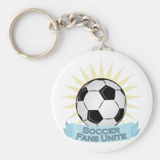 Soccer Fans Unite Basic Round Button Keychain
