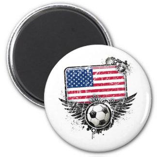 Soccer fans USA Magnet