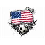 Soccer fans USA Postcard