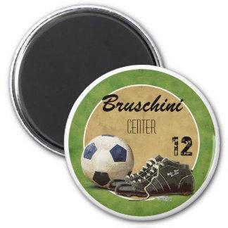 Soccer Field 2 Inch Round Magnet