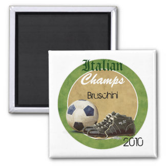Soccer Field 2 Inch Square Magnet