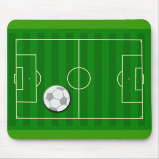 Soccer Field and Ball Mouse Pad