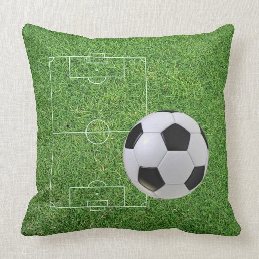Soccer Field And Ball Pillow Zazzle