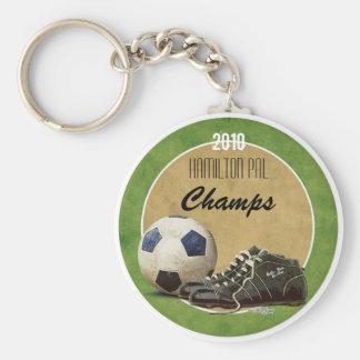 Soccer Field Basic Round Button Keychain
