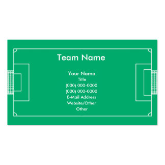 Soccer Field Business Card Template