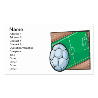Soccer Field Double-Sided Standard Business Cards (Pack Of 100)