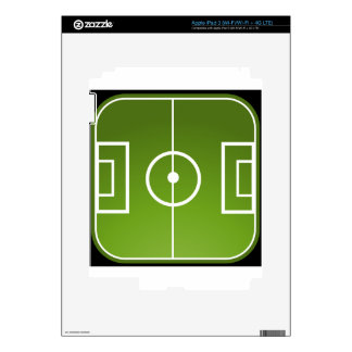Soccer field decal for iPad 3