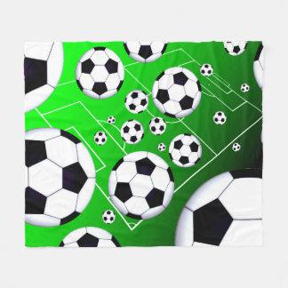Soccer Field Fleece Blanket