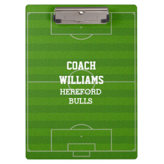 Soccer Field Football Pitch Personalized Clipboard