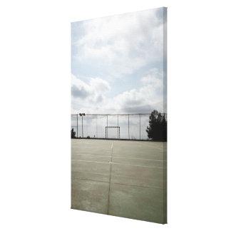 Soccer field in Barcelona, Spain Canvas Print