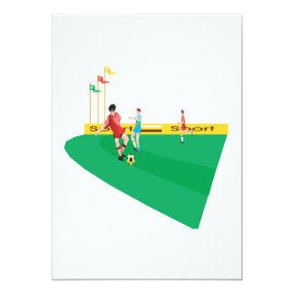 Soccer Field 5x7 Paper Invitation Card