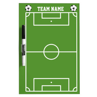 Soccer Field Layout In White And Green Dry-Erase Whiteboards