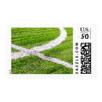Soccer field lines postage