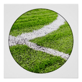 Soccer field lines poster